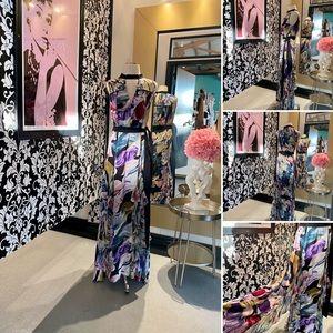 Bcbg Gorgeous Long Floral Maxi Dress